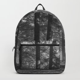 Black and white woods - North Kessock, Highlands, Scotland Backpack