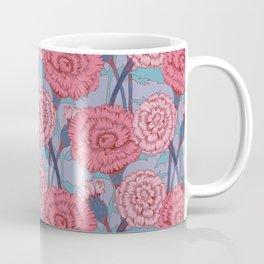 Dark Pink Flowers Pattern Coffee Mug