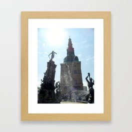 Fountain Outside Frederiksborg Palace  Framed Art Print