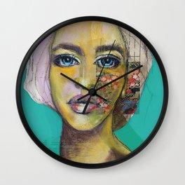 Bea Turquoise Wall Clock