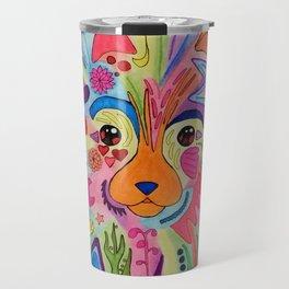 Rainbow Pomeranian Travel Mug