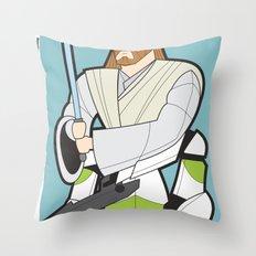 Obi-wan and Clone Trooper Throw Pillow