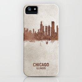 Chicago Illinois Rust Skyline iPhone Case