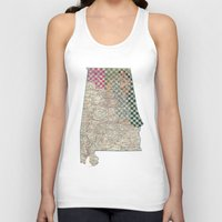 alabama Tank Tops featuring Alabama by judy lee