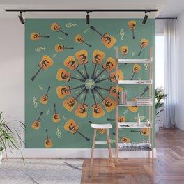 Guitar Spiral Design Wall Mural