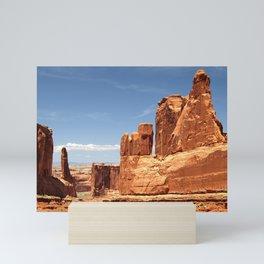 Sandstones Landscape Rocks Rock Formation Scenery Mini Art Print