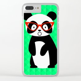 shocked panda Clear iPhone Case