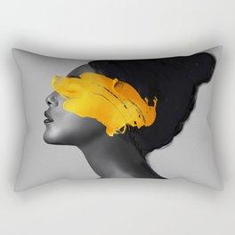 Yellow Girl Rectangular Pillow