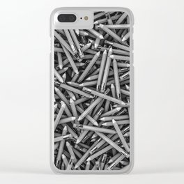 Pencil it in B&W / 3D render of hundreds of pencils in black and white Clear iPhone Case