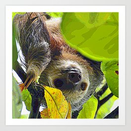 AnimalPaint_Sloth_20171201_by_JAMColors Art Print