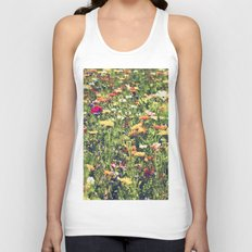 Happy summer meadow vintage style Unisex Tank Top