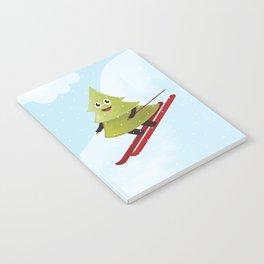 Happy Pine Tree on Ski Notebook