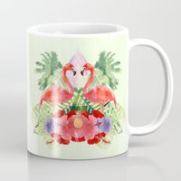 flamingo Mugs featuring Flamingo by Kangarui by Rui Stalph