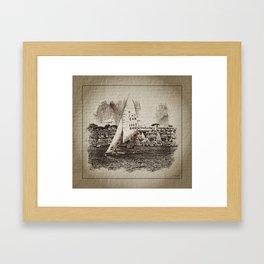 Voile. Semaine Olympique Française Framed Art Print