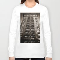 building Long Sleeve T-shirts featuring SF Building by Mark Alder