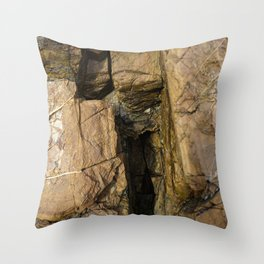 Door into the Cliff Face Throw Pillow