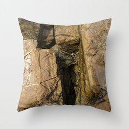 Door into the Cliff Face Throw Pillow
