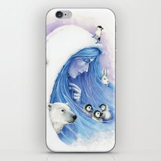 Lady Winter / Dame Hiver iPhone & iPod Skin