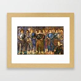 "Edward Burne-Jones ""The Days of Creation - all"" Framed Art Print"