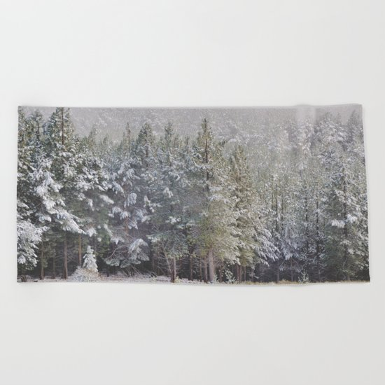 """""""Into the woods"""". At 2.500 meters hight Beach Towel"""