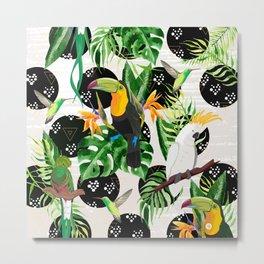 Birds and tropical plants Metal Print