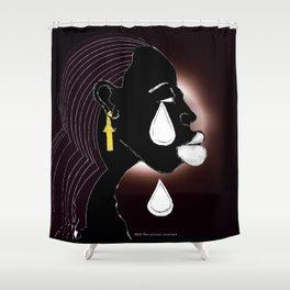 2013 A Tear For the Nubian  Shower Curtain