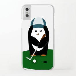 Putting Penguin Clear iPhone Case