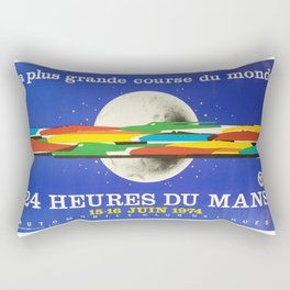 24hs Le Mans, 1974, original vintage poster Rectangular Pillow