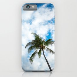 The Sky and a Coconut Tree iPhone Case