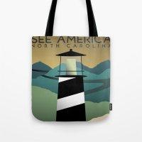 north carolina Tote Bags featuring North Carolina by Design for Obama