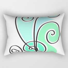 green waves lines Rectangular Pillow
