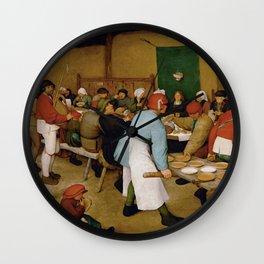 Peasant Wedding Bruegel Wall Clock