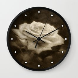 Pink Roses in Anzures 3 Antiqued Wall Clock