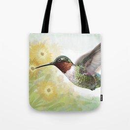 Nectar Flight of the Ruby-throated Hummingbird Tote Bag