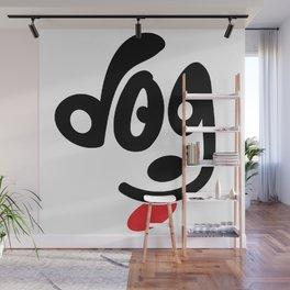 dog face t-shirt Wall Mural