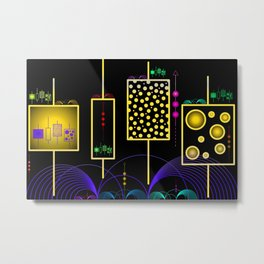 Artificial Intelligence - Machine Learning Metal Print