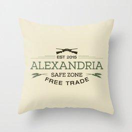 Alexandria Safe Zone Free Trade Throw Pillow
