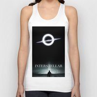 interstellar Tank Tops featuring INTERSTELLAR by Tony Vazquez