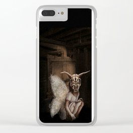 baby mothra Clear iPhone Case