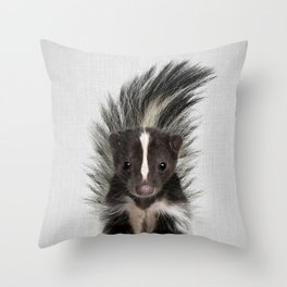 Skunk - Colorful Throw Pillow