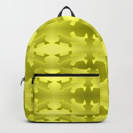 Pattern geometrical yellow 3d Backpack