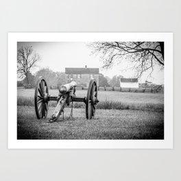 Melancholy Cannon Henry House Manassas National Battlefield Park Virginia Civil War Battelground Art Print