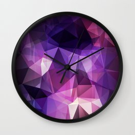 Stylish geometrical print with polygonal triangles Wall Clock
