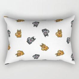 Yellow & Gray Dog Rectangular Pillow