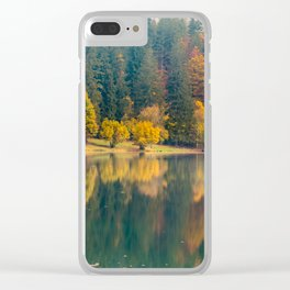 Autumn foliage at the alpine lake Clear iPhone Case