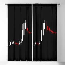 Abstract stock diagram black, red, white colors Blackout Curtain