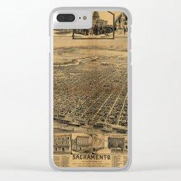 Aerial View of Sacramento, California (circa 1890) Clear iPhone Case