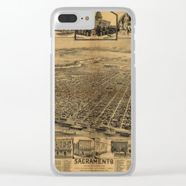 Aerial View of Sacramento, California (circa 1890) Clear iPhone Case