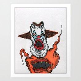 Mutant Clown Art Print