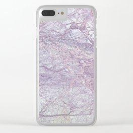 Purple Marble Clear iPhone Case